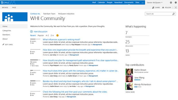 SharePoint 2013 joue la carte des réseaux sociaux